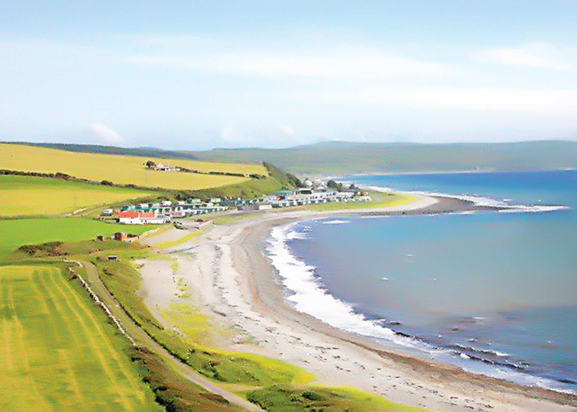 Luce bay aerial view